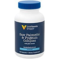 Saw Palmetto + Pygeum Complex with Plant Sterols Supplement for Prostate Health, 160mg of Saw Palmetto Extract (120 Capsules) by The Vitamin Shoppe