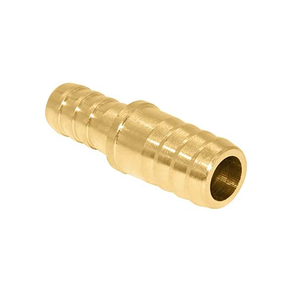 Tee Union Mender Joiner Fuel Water Gas Air 5//16 x 5//16 x 5//16, 1 Brass Hose Barb Splice T-Fitting