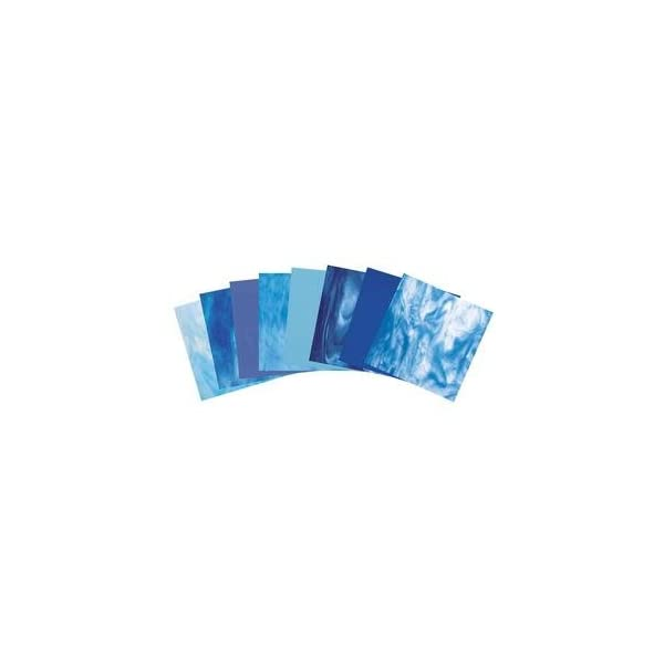 COE 96 Deluxe System 96 Assorted Fusible Glass Pack 4 X 4 Sheets On Sale 6 Pack