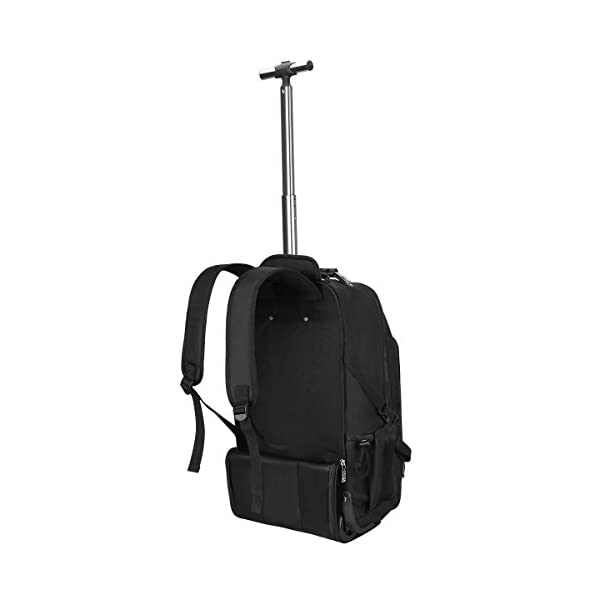 S-ZONE Wheeled Backpack Rolling Carry-on Luggage Travel Duffel Bag