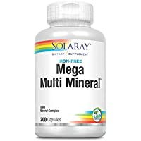 Mega Multi Mineral Without Iron ,200 Capsules