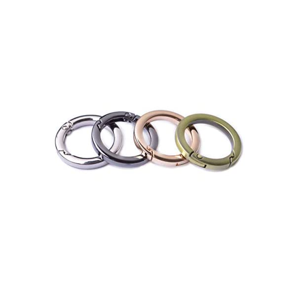 Silver CRAFTMEmore 1 1//2 Inch O Rings Snap Clip Spring Opening O-Ring Carabiner Keyring Round Clasp Buckle Purse Hardware 2 Pack