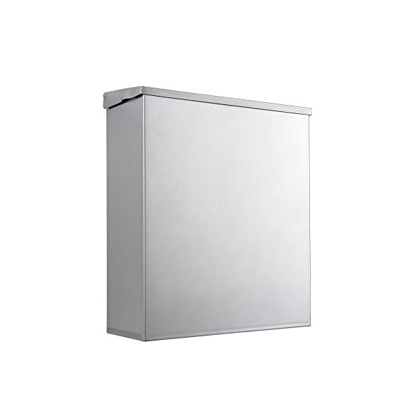by Dependable Direct 1.8 Gallon Capacity Sanitary Napkin Disposal with Key and Lock 304 Grade Heavy Duty Stainless Steel