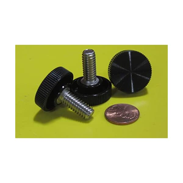 18-8 Stainless Steel Thread Size 5//16-18 Thread Size 5//16-18 FastenerParts Knurled-Head Extended-Tip Thumb Screw