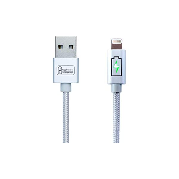 Blue MFi Certified Nylon Braided Works with iPhone XR XS XS Max X 8 7 Plus iPad Pro Air Mini iPod 2.4A High-Speed Charge and Sync Zikko Lightning Compatible Cable 5ft