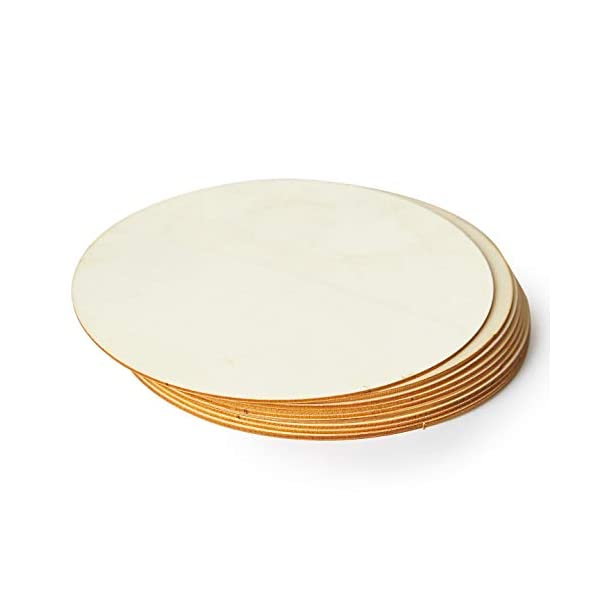 Blisstime 36 Pieces 3 Inch Unfinished Wood Circles Round Wooden Slices Wood Drink Coasters Blank Wood Crafts for Painting Engraving and Carving DIY Supplies Writing Home Decorations