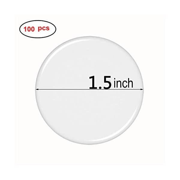 Clear. Create 3D Looks School DIY Crafts and Scrapbooks 1.2 inch 100-Piece Round Epoxy Stickers for Sealing Bottle Cap Pendants