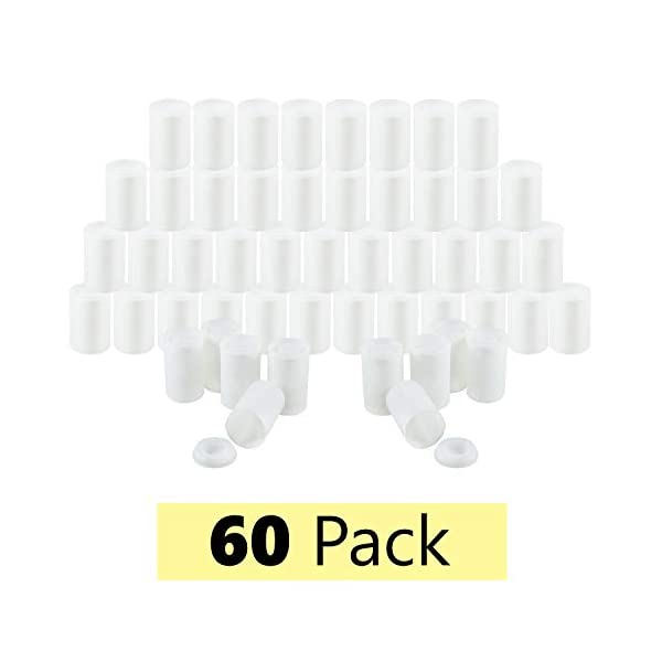 20 Pack 35mm Empty Film Canisters with Caps Lids White Picture Plastic Storage