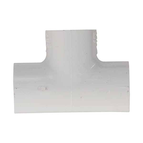White Schedule 40 3//4 x 1//2 Socket Tee Spears 401 Series PVC Pipe Fitting