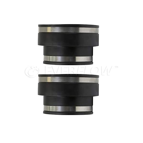 Supply Giant 6I5I Flexible Pvc Reducing Coupling with Stainless Steel Clamps Black 6 x 4 6 x 4 Inch