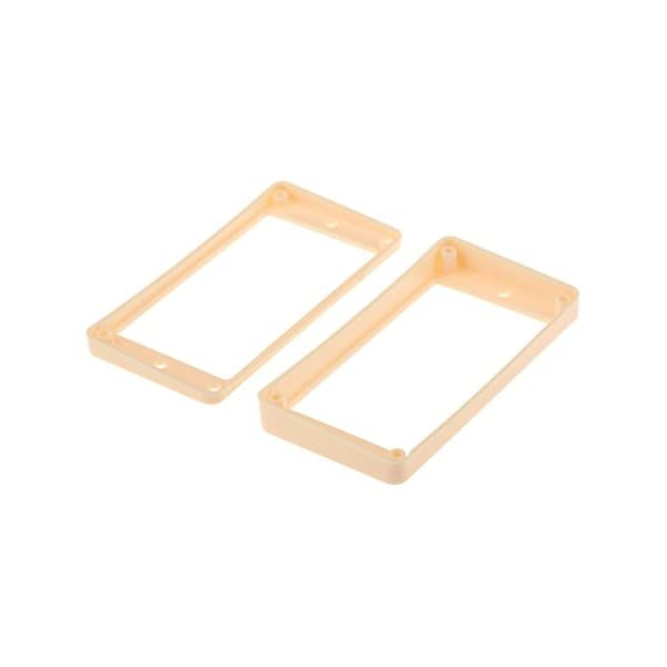 WHITE CURVED HUMBUCKER PICKUP MOUNTING RING SET FOR EPIPHONE GUITAR *NEW* 2