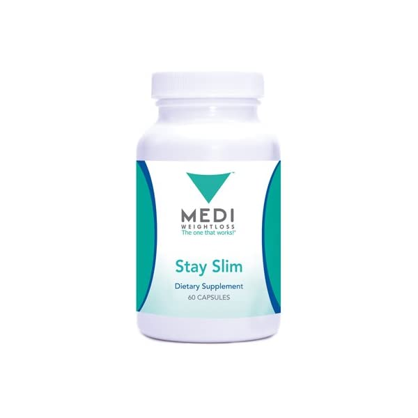 Medi-Weightloss Stay Slim Natural Appetite Suppressant, Hoodia Gordonii & Green Tea Extract, (60 Capsules) - Diet Supplement