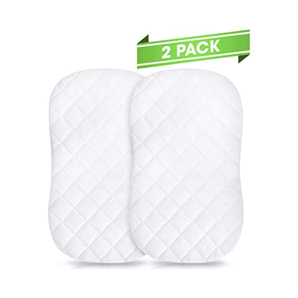 "Fits HALO 30/""x15/"" Hypoallergenic Breathable Protector /& Oval Bassinets Rectangular Premium Bassinet Mattress Pad Waterproof Bamboo Cover"