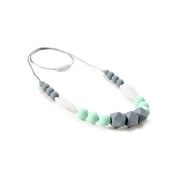 Breastfeeding Baby Teether Chew Toy Silicone Teething Necklace
