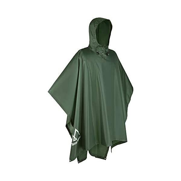 Multipurpose Makes a Great Tarp Emergency Shelter Backpacking Ground Cloth Rain Poncho,Waterproof Raincoat with Hoods Rain Poncho for Outdoor Activities Men,Women