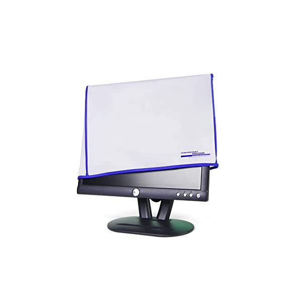 17W x18H x3D Monitor Dust Cover LED//LCD Antistatic Vinyl Flat-Screen Computer Monitor Water Proof Protective Case by SZBRO for 19
