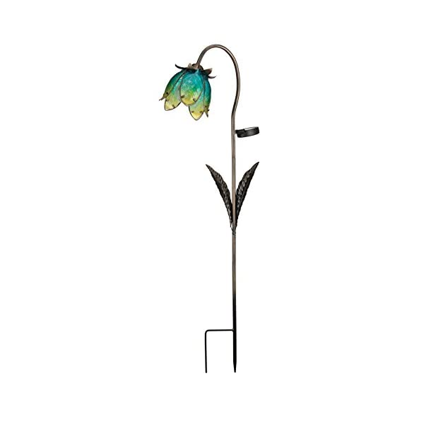Regal Art and Gift 10560 Tulip Red//Green Solar Stake