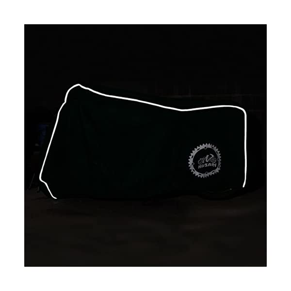 Waterproof All Season Polyester w//Soft Screen Shield.Heat Resistant Lockable fabric that is Durable /& Long Lasting Fits Sportbikes /& Cruisers Lrg blk Premium Heavy Duty Outdoor Motorcycle Cover