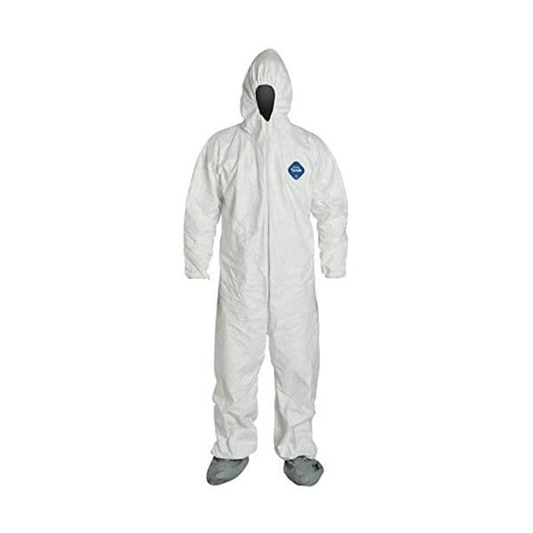 DuPont TY127S Tyvek Protective Coverall with X-Large with InPrimeTime Protective Gloves Elastic Cuffs