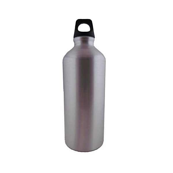 Midnight Blue Kitchsmart Aluminum Water Bottle with Plastic Screw Lid Looped on the Top 20oz