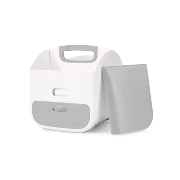 Ubbi Baby Nappy Wipes Dispenser with Weighted Plate Grey