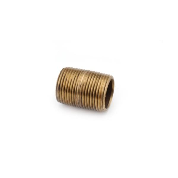 Close Nipple Red Brass Pipe Fitting 1-1//2 Length 1 NPT Male Schedule 40 Seamless