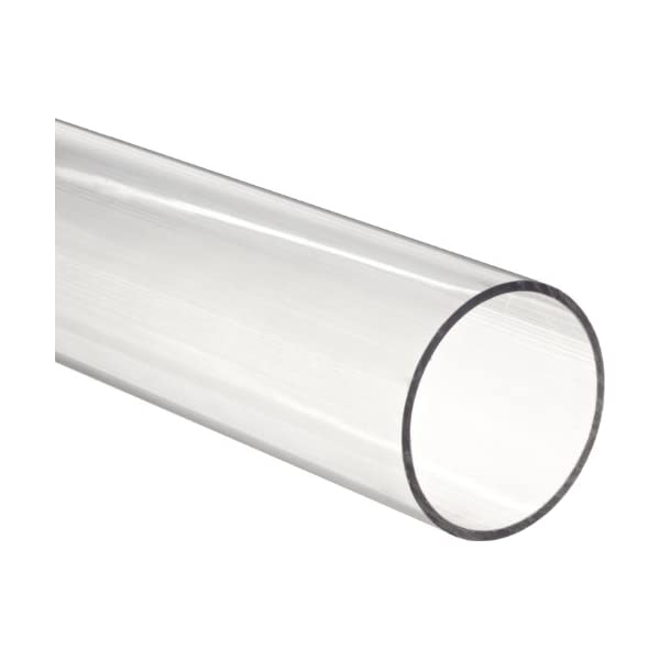 1 ID x 1 1//4 OD x 1//8 Wall Polycarbonate Tubing Clear Color 24 L