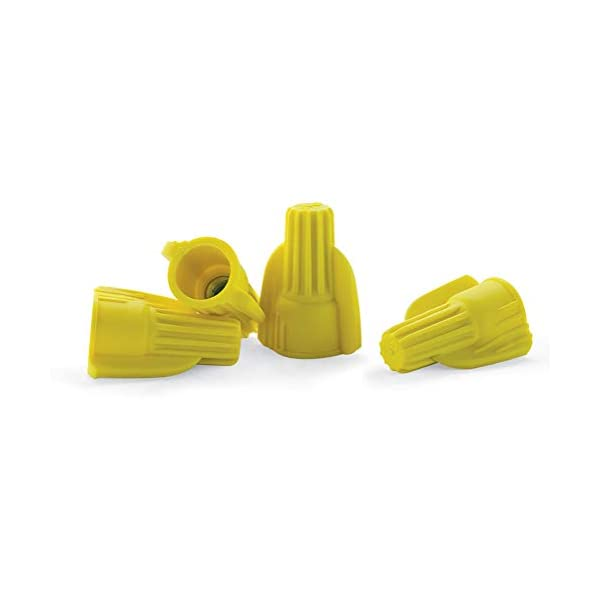 Bulk Bag of 500 Tan Winged Wire Connectors Twist-On Easy Screw On Type UL Listed and CSA Certified