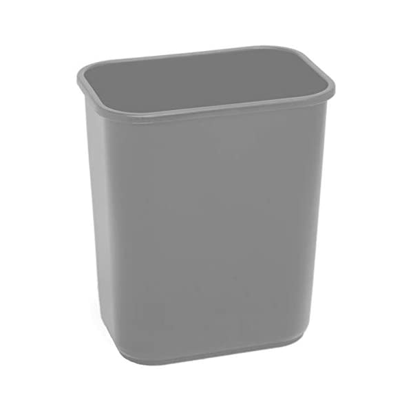 Highmark Office Depot Wastebasket 7 Gallons 14 1//2in.H x 10 1//2in.W x 15 1//4in.D Black WB0189