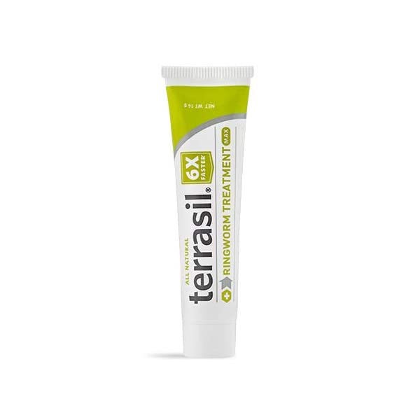 terrasil® Ringworm Treatment MAX - 6X Faster Doctor Recommended Patented All-Natural Anti-Fungal Ointment for itching Burning Pain Inflammation & Irritation from fungal Infection - 14g Tube