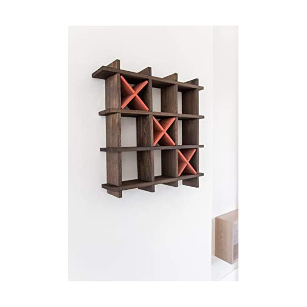 Playful Storage Shelves for Toilet Tissue in Torched Brown Color Freestanding or Wall Mount Bath Shelves for Your Farmhouse D/écor Comfify Rustic Tic-Tac-Toe Toilet Paper Holder for Bathroom