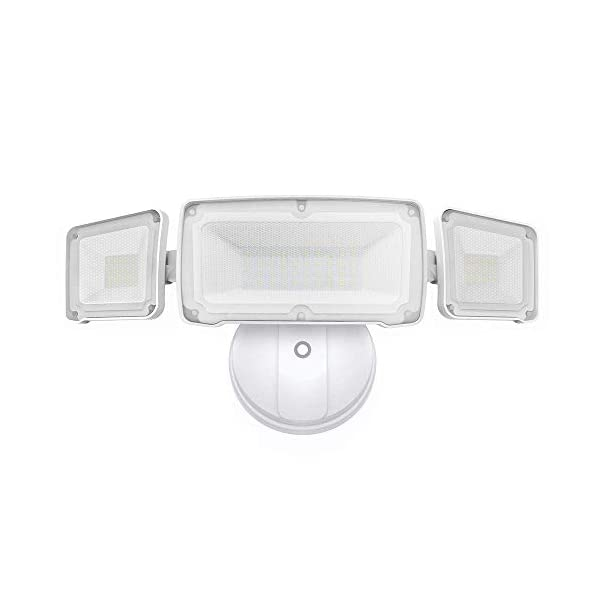 White Light IP65 Waterproof ETL- Certified LEPOWER 2500LM LED Security Light Stairs 22W Super Bright Outdoor Flood Light 5500K Yard and Garage 2 Adjustable Heads for Entryways