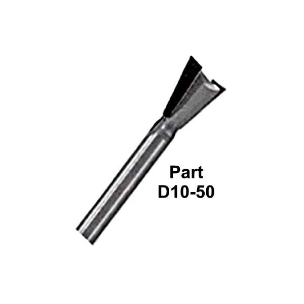 Whiteside Router Bits D14-51x8 Dovetail Bit with 1//2-Inch Large Diameter and 1//2-Inch Cutting Length