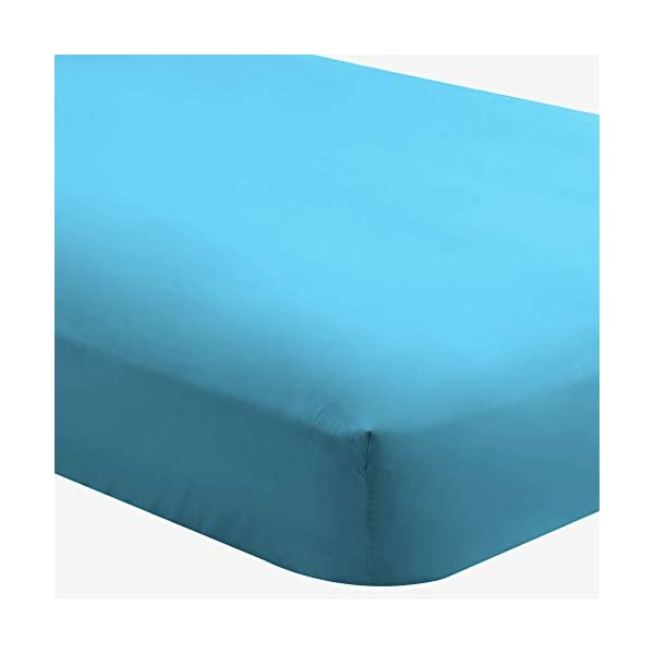 Deep Pocket Twin XL, Aqua Bare Home 2-Pack Fitted Bottom Sheets Twin XL Hypoallergenic Premium 1800 Ultra-Soft Wrinkle Resistant Microfiber