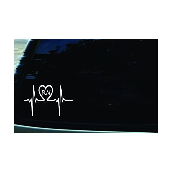 CMI NI982 Nurse Infinity Decal Sticker Premium Quality White Vinyl 7.5-Inches by 2.3-Inches