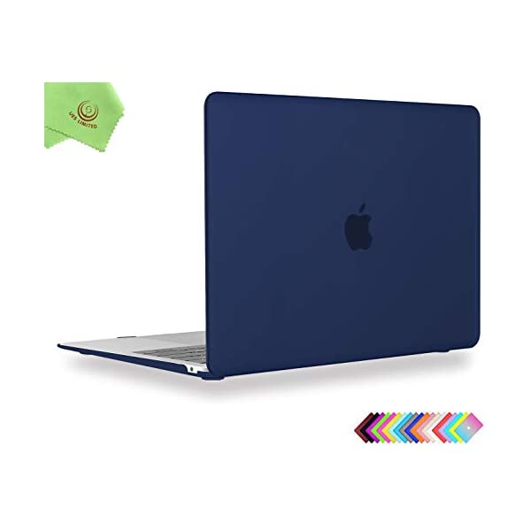Model:A1369// A1466 Wine Red UESWILL Smooth Soft-Touch Matte Frosted Hard Shell Case Cover for 2009-2017 MacBook Air 13 + Microfibre Cleaning Cloth