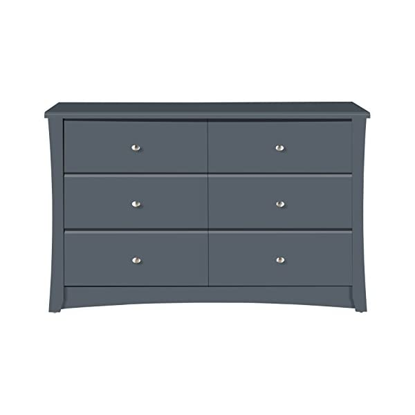 Kids Room Ideal for Nursery Toddlers Room Black Kids Bedroom Dresser with 4 Drawers Storkcraft Crescent 4 Drawer Chest Wood /& Composite Construction