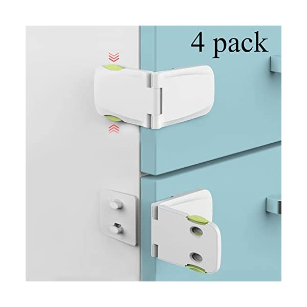 Drawer Cupboard Oven Closet Cabinet Locks Child Safety OUYUI 4 PCS Baby Proofing Drawer Lock Latch for Kitchen Storage Doors,Cabinets Refrigerator
