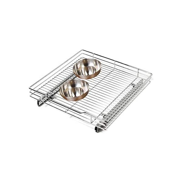 Tier Shelf Expandable Roll Out Cabinet