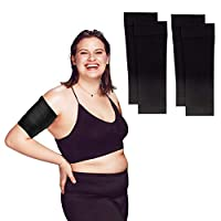 Arm Shapers For Women - Upper Arm Compression Sleeve To Help Tone Arms - Slimming Arm Wraps For Flabby Arms - Helps Shape Upper Arms Ideal For Arm Fat - 2 Pairs Black