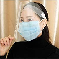 3 Pack Face Shields Adjustable Transparent Face Shield Protect Eyes and Face with Protective Clear Film Elastic Band Outdoor Face Cover