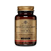 Solgar Methylcobalamin (Vitamin B12) 5000 mcg, 60 Nuggets - Supports Energy Metabolism - Body-Ready, Active Form of B12 - Vitamin B - Non GMO, Vegan, Gluten, Dairy Free, Kosher - 60 Servings