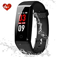 YOUNGDO Fitness Tracker, Color Screen Smart Watch Activity Tracker with Heart Rate Monitor, Blood Pressure Monitor, Step Counter, Sleep Monitor, IP67 Waterproof Smart Bracelet Pedometer Wristband