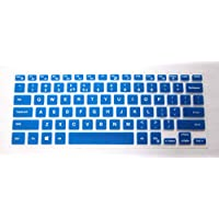 Blue CONVAY Ultra Thin Silicone Keyboard Cover Skin Protector for Dell Inspiron 14 3000 5000 Series such as 14-3442 14-5447 14-7447 etc