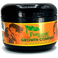 J'Organic Solutions hair growth Scalp stimulator (Hair Grease for Kids) Softer, shinier, healthier hair, with Lanolin, Sweet Almond Oil, Castor Oil & More