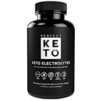 Perfect Keto Electrolyte Pills - Supports Hydration and Recovery | Supplements for Low Carb or Keto-Friendly Diet - Essential Vitamins, Minerals, Sodium, Potassium, Magnesium - 120 Capsules