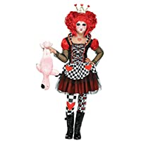 Fun World Queen of Hearts Costume, Large 12 - 14, Multicolor