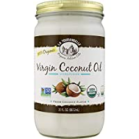 La Tourangelle Organic Virgin Unrefined Coconut Oil 30 Fl. Oz., Organic Coconut Oil, Great for Cooking Baking and Hair and Skin Care