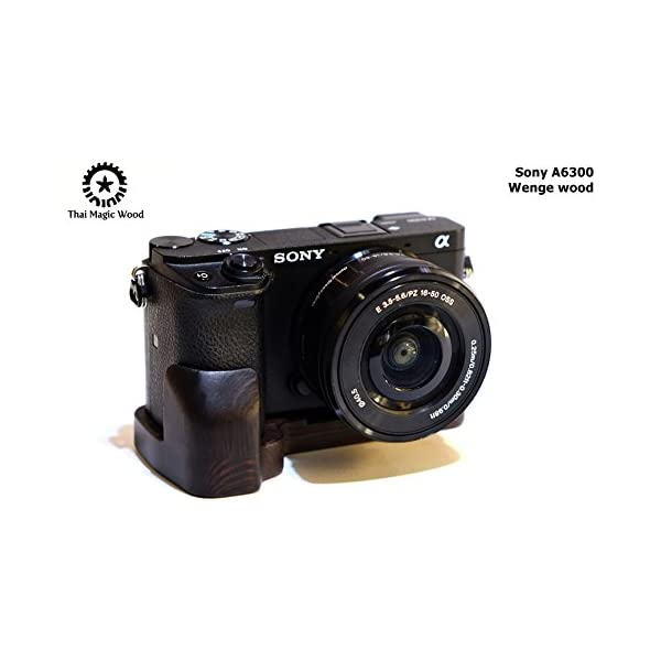 Thai magic wood,Wood grip for Sony A7ii,Wood handle,Made from Wenge wood,Premium quality wood grip.Very light weight,beautiful Good handling.