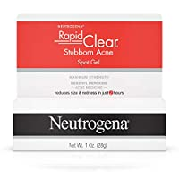 Neutrogena Rapid Clear Stubborn Acne Spot Treatment Gel with Maximum Strength Benzoyl Peroxide Acne Treatment Medicine, Pimple  Cream for Acne Prone Skin with 10% Benzoyl Peroxide, 1 oz